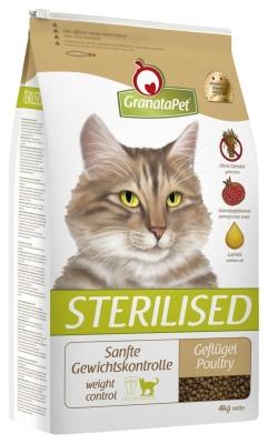GranataPet Sterilised Gevogelte 400 g, 4 kg, 2 kg