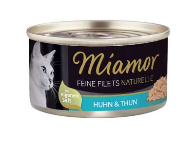 Miamor Fine Fillets Naturelle - Kip & Tonijn in Gelei 80 g, 156 g