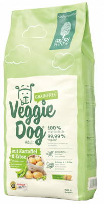 Green Petfood VeggieDog Grainfree with Potato and Pea  3 kg, 2 kg, 15 kg