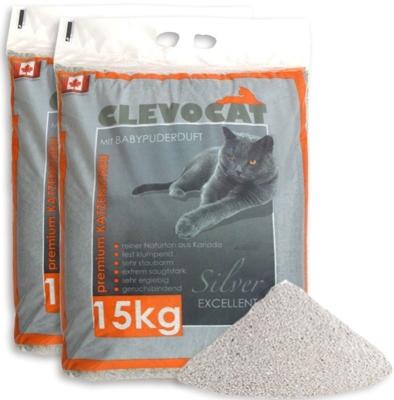 ClevoCat Katzenstreu mit Babypuderduft 15 kg