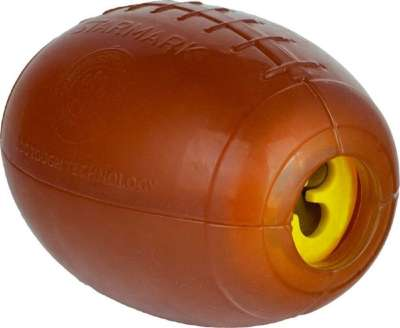 StarMark Treat Dispensing Football Medium 9x6 cm Braun