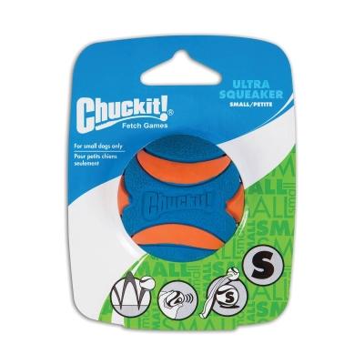 Chuckit! Ultra Squeaker Ball S Blå