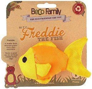 BeCo Pets Katzenspielzeug Freddie Der Fisch Gelb 5 cm