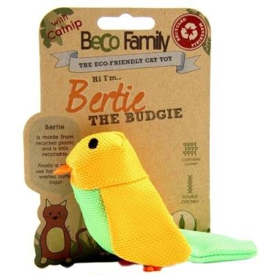 BeCo Pets Katzenspielzeug Budgie Der Papagei Gelb 5 cm