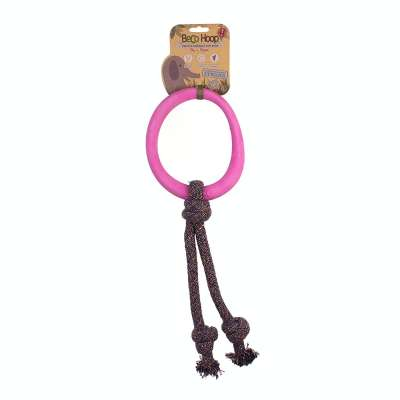 BeCo Pets Hoop on Rope Varm rosa L
