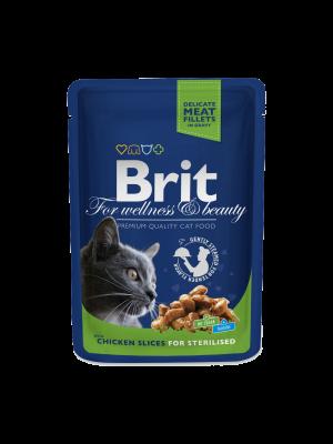 Brit Premium Cat Pouches Chicken Slices for Sterilised 100 g