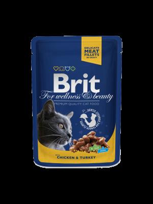 Brit Premium kattenvoer met kip en kalkoen 100 g