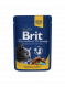 Brit Premium Cat Pouches with Chicken & Turkey 100 g Butikk på nett
