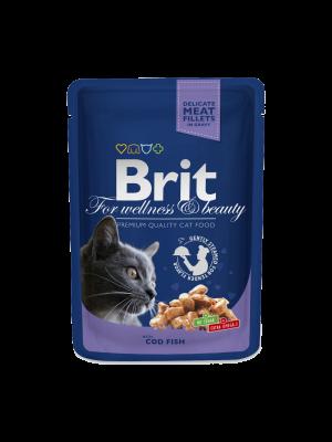 Brit Premium Katzenfutter mit Kabeljau in Soße 100 g