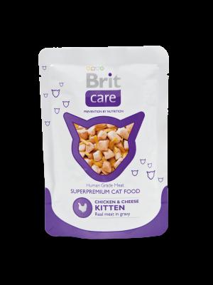 Brit Cat Chicken & Cheese Kitten Pouch 80 g