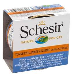 Schesir Tuna & Pilchards in Natural Gravy  70 g