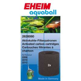 Eheim Carbon cartridge for adsorptive filtration 2208-2212, aquaball 60-180 & biopower 160 2 pieces