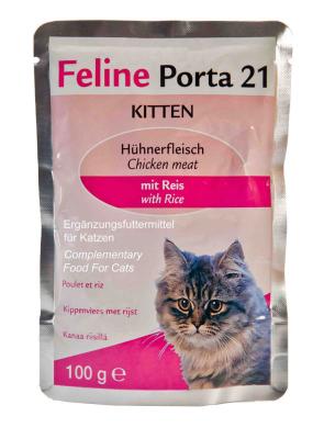 Feline Porta 21 Kitten Hühnerfleisch mit Reis 100 g