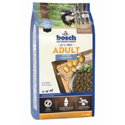 Bosch Adult, Fisk & Kartofler  15 kg, 3 kg, 1 kg