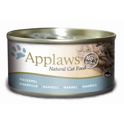 Applaws Natural Cat Food Makreel 156 g, 70 g, 24x70 g