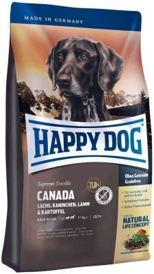 Happy Dog Supreme Canada Lohta, Kani, Lammas & Peruna  300 g, 12.5 kg, 1 kg, 4 kg, 10 kg