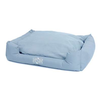 "Pakmas ""Oeko-Bed"" Double-Sided Dog Cushion in Plush Himmelblå S"