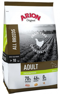 Arion Original All Breeds Grain-Free Adult mit Huhn und Kartoffel  12 kg