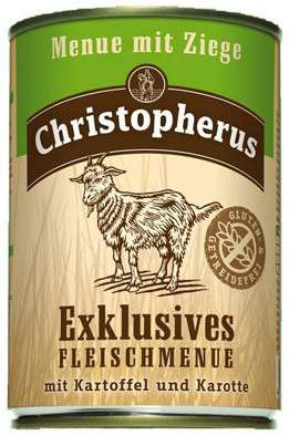 Christopherus Exclusive Meat Menu - Goat meat, Potato and Carrots Can  400 g, 800 g, 200 g