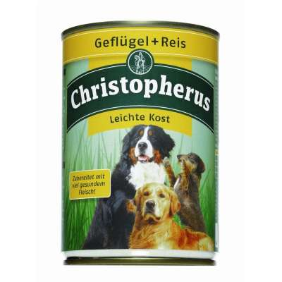 Christopherus Adult Dog Light – Poultry & Rice Can  800 g, 400 g