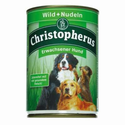 Christopherus Adult Dog – Game Meat + Pasta Can  800 g, 400 g