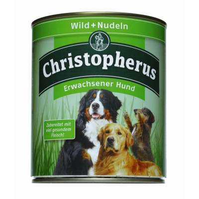 Christopherus Adult Dog – Game Meat & Pasta Can  800 g, 400 g