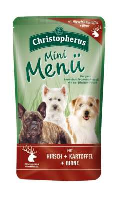 Christopherus Mini Menu - Deer, Potato & Pear Pouch  125 g