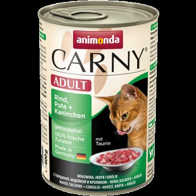 Animonda Carny Adult Rind, Pute + Kaninchen 6x200 g, 6x400 g, 800 g, 400 g, 200 g