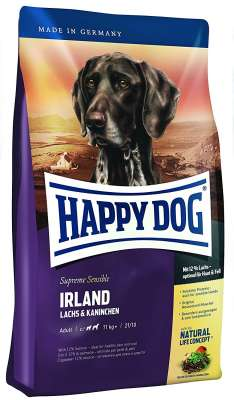 Happy Dog Supreme Sensible Irland met Zalm & Konijn  300 g, 12.5 kg, 1 kg, 4 kg, 10 kg