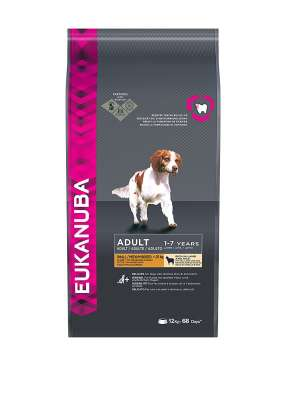 Eukanuba Adult Small/Medium Breed, Lamb & Rice  12 kg