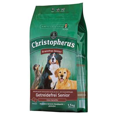 Christopherus Senior Grain Free – Duck & Potato  1.5 kg, 12 kg, 4 kg