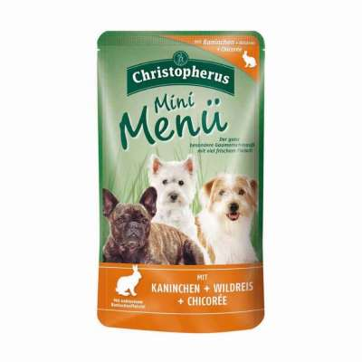 Christopherus Mini Menu - Rabbit, Wild Rice and Chicory Pouch  125 g