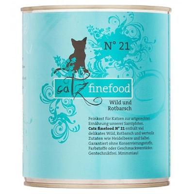 Catz Finefood No.21 Wild und Rotbarsch 85 g, 800 g, 400 g, 200 g