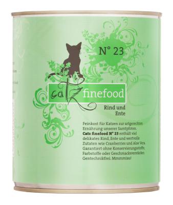 Catz Finefood No.23 Rind und Ente 85 g, 800 g, 400 g, 200 g