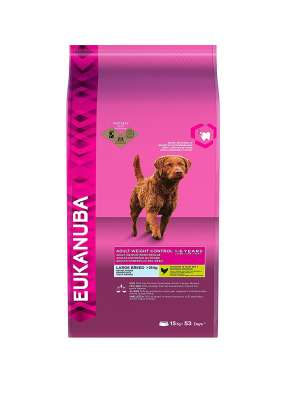 Eukanuba Adult Large Breed, Weight Control, Chicken  15 kg