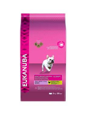 Eukanuba Adult Small Breed, Weight Control, Chicken  3 kg