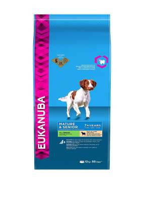 Eukanuba Mature & Senior All Breed, Lamm & Ris  12 kg