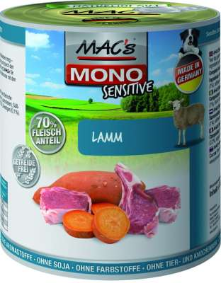 MAC's Dog Mono Sensitive - Lamb canned  800 g, 400 g, 200 g