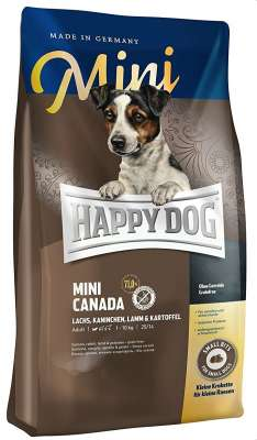 Happy Dog Supreme Mini Canada med Lax, Kanin, Lamm & Potatis  4 kg, 1 kg, 300 g