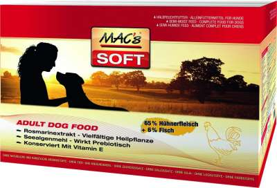 MAC's Soft - Pollo  230 g, 1.5 kg, 3x5 kg, 15 kg