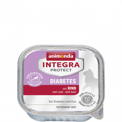 Animonda Integra Protect Diabetes Adult met Rund, in Kuipje 100 g, 200 g
