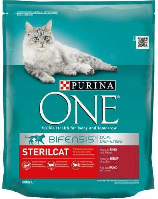 Purina ONE Bifensis Sterilcat Rica em Carne de Vaca e Trigo 800 g, 3 kg, 1.5 kg