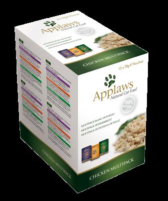 Applaws Natural Cat Food Multipack met Kip 12x70 g