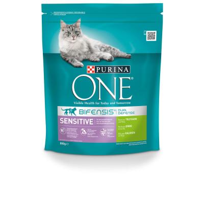 Purina One Bifensis Sensitive reich an Truthahn und Reis 800 g, 3 kg, 1.5 kg