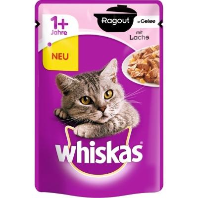 Whiskas 1+ Ragout mit Lachs in Gelee 85 g
