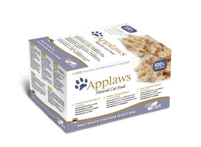 Applaws Cat Pots mit Hühnchen Selection - Multipack 8x60 g