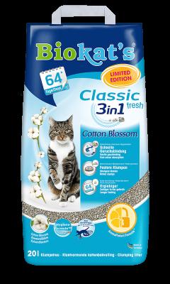 Biokat's Classic Fresh 3in1 Cotton Blossom 20 l