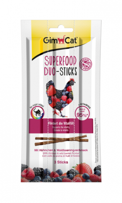 GimCat Duo-Sticks mit Hühnchen & Waldbeeren Huhn & Wildbeeren 15 g