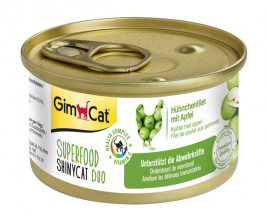 Superfood ShinyCat Duo Hühnchenfilet mit Apfel GimCat  4002064414515