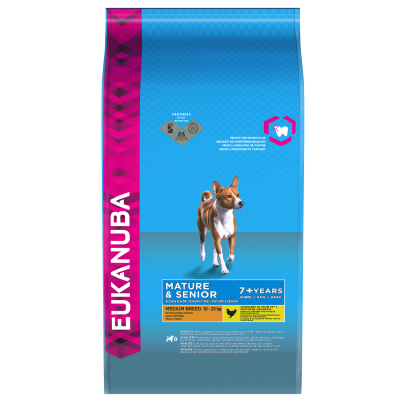 Eukanuba Mature & Senior Medium Breed, Kip  3 kg, 15 kg